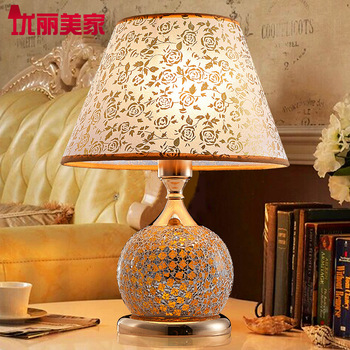 TUDA 2017 now Indoor Lighting table lamps bed bedroom wedding gifts creative fashion Mosaic glass contracted decorate desk lamp