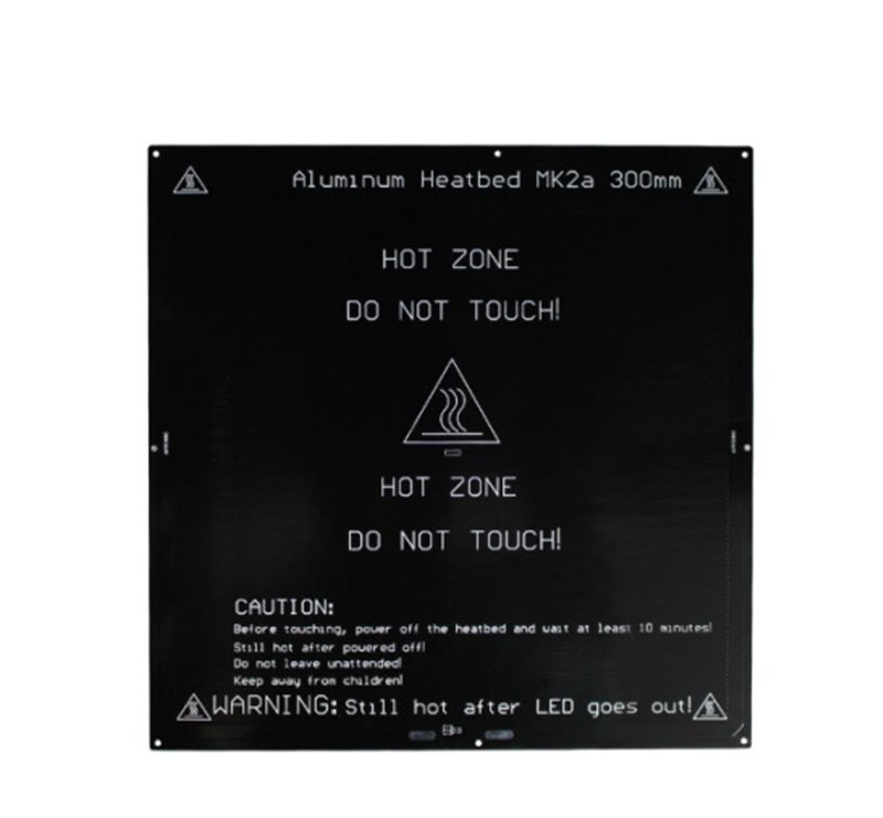 Horizon Elephant  12/24V 300x300mm PCB MK2A heated bed for Reprap Prusa i3 3D printer 3mm thick