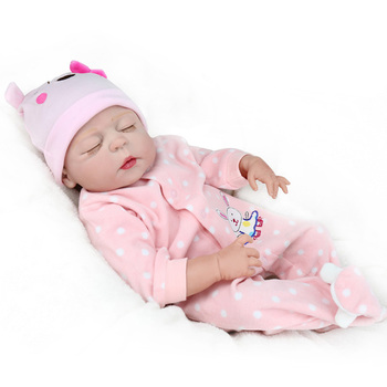 Full Silicone Vinyl Realistic Baby Girl 22Inch Reborn Babies Fashion Baby Alive Dolls Kid Playmate Juguetes Brinquedos