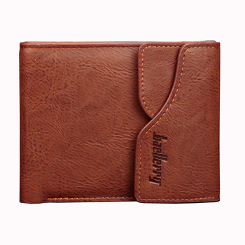 Baellerry Men Hasp Short Wallet Multifunctional Money Cash Coin Purse PU Leather Billfold Pocket Credit Card Holder Cover Clip
