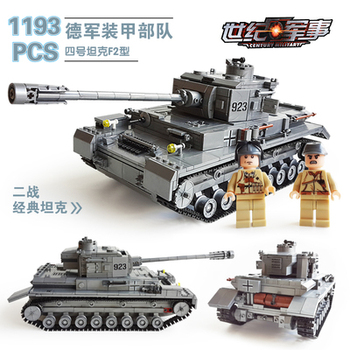 82010 1193pcs Century Military Tank Building Blocks Compatible With lego gift kid DIY Block Century Military PZKPFW-II Tank Toy