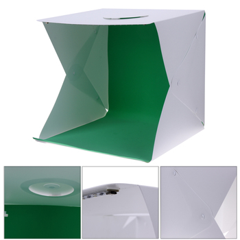 40cm All-in-one Portable Mini Foldable Photo Studio Box Photography Backdrop built-in Light Photography Backdrop Box