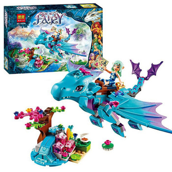 Bela 10500 Fairy Elves The Water Dragon Adventure Building Kits Brick Xmas Toys Gift Compatible with Lego gift set kids